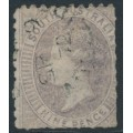 AUSTRALIA / SA - 1871 9d grey-lilac Queen Victoria, perf. x rouletted, used – SG # 49a