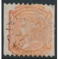 AUSTRALIA / SA - 1870 2d pale orange-red QV, crown SA watermark, perf. 10:roulette, used – SG # 157