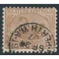 AUSTRALIA / WA - 1905 3d brown Swan, crown A watermark, perf. 11, used – SG # 153