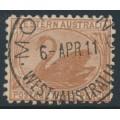 AUSTRALIA / WA - 1905 3d brown Swan, crown A watermark, perf. 11, used – SG # 153