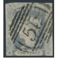 AUSTRALIA / NSW - 1851 2d ultramarine Laureates, imperf., thick yellowish paper, used – SG # 51