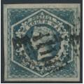 AUSTRALIA / NSW - 1854 6d deep slate Diadem, imperforate, '6' watermark, used – SG # 89