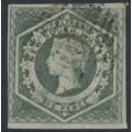 AUSTRALIA / NSW - 1854 6d greenish grey Diadem, imperforate, '6' watermark, used – SG # 90