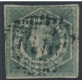 AUSTRALIA / NSW - 1854 6d greenish grey Diadem, imperforate, '6' watermark, used – SG # 90