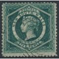 AUSTRALIA / NSW - 1863 5d bluish green Diadem, perf. 13:13, '5' watermark, used – SG # 160