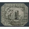 AUSTRALIA / WA - 1859 6d grey-black Swan, imperforate with swan watermark, used – SG # 19
