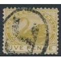 AUSTRALIA / WA - 1905 5d pale olive-bistre Swan, perf. 12½, sideways crown A watermark, used – SG # 143
