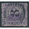 AUSTRALIA / WA - 1864 6d dull violet Swan, perf. 13:13, no watermark, used – SG # 51a