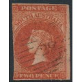 AUSTRALIA / SA - 1858 2d orange-red Queen Victoria (Adelaide printing), used – SG # 7