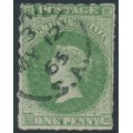 AUSTRALIA / SA - 1861 1d sage-green Queen Victoria, rouletted, used – SG # 21
