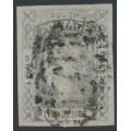 AUSTRALIA / NSW - 1851 2d greyish blue Laureates, imperf., plate I, used – SG # 55