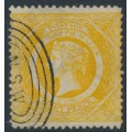 AUSTRALIA / NSW - 1877 8d yellow Diadem, perf. 13:13, crown NSW watermark, used – SG # 218