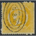 AUSTRALIA / NSW - 1877 8d yellow Diadem, perf. 13:13, crown NSW watermark, used – SG # 218