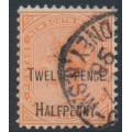 AUSTRALIA / NSW - 1891 12½d on 1/- red Queen Victoria, perf. 12:12, used – SG # 268e