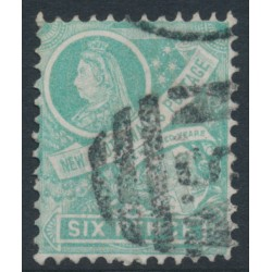 AUSTRALIA / NSW - 1898 6d green Colony Arms, perf. 12:12, crown NSW watermark, used – SG # 297fb