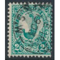AUSTRALIA / NSW - 1903 2/6 green Lyrebird, perf. 12:11½, crown NSW watermark, used – SG # 326