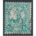 AUSTRALIA / NSW - 1903 2/6 green Lyrebird, perf. 12:11½, crown NSW watermark, used – SG # 326