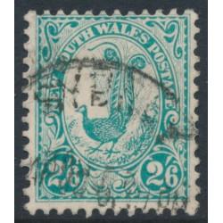 AUSTRALIA / NSW - 1905 2/6 blue-green Lyrebird, perf. 12:11½, crown A watermark, used – SG # 349