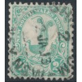 AUSTRALIA / NSW - 1905 2/6 blue-green Lyrebird, perf. 11½:11, crown A watermark, used – SG # 349a