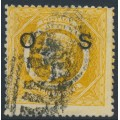 AUSTRALIA / NSW - 1885 8d yellow Diadem, perf. 12:12, crown NSW watermark, o/p OS, used – SG # O32a