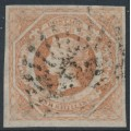 AUSTRALIA / NSW - 1854 1/- brownish red Diadem, imperforate, '12' watermark, used – SG # 101