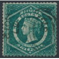 AUSTRALIA / NSW - 1866 5d sea-green Diadem, perf. 13:13, '5' watermark, used – SG # 162