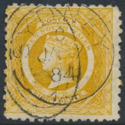 AUSTRALIA / NSW - 1883 8d yellow Diadem, perf. 10:10, crown NSW watermark, used – SG # 236
