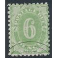 AUSTRALIA / NSW - 1891 6d green Postage Due, perf. 10:10, CTO – SG # D6