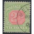 AUSTRALIA / VIC - 1895 2/- pale red/yellow-green Postage Due, CTO – SG # D19