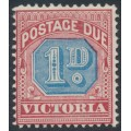 AUSTRALIA / VIC - 1891 1d blue/maroon Postage Due, MH – SG # D2a