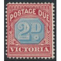 AUSTRALIA / VIC - 1893 2d blue/brownish red Postage Due, MH – SG # D3a
