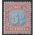 AUSTRALIA / VIC - 1890 5d dull blue/brown-lake Postage Due, MH – SG # D5