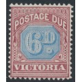 AUSTRALIA / VIC - 1890 6d dull blue/brown-lake Postage Due, MH – SG # D6