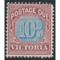 AUSTRALIA / VIC - 1890 10d dull blue/brown-lake Postage Due, MH – SG # D7