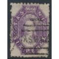 AUSTRALIA / TAS - 1878 6d bright violet Chalon, perf. 11½:11½, '6' watermark, used – SG # 138