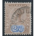 AUSTRALIA / TAS - 1892 2/6 brown/blue Queen Victoria tablet, used – SG # 222