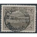 AUSTRALIA / TAS - 1909 3d brown Port Davey, perf. 11, sideways crown A watermark, used – SG # 253b