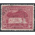 AUSTRALIA / TAS - 1910 6d carmine-lake Dilston Falls, perf. 11, sideways crown A watermark, used – SG # 254a