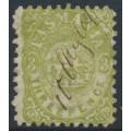 AUSTRALIA / TAS - 1863 3d green St. George and Dragon, perf. 10:10, '1' watermark, used – SG # F8