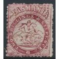 AUSTRALIA / TAS - 1863 2/6 lake St. George and Dragon, perf. 12:12, '1' watermark, used – SG # F23
