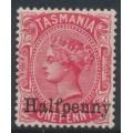 AUSTRALIA / TAS - 1889 ½d on 1d scarlet Queen Victoria, mint hinged – SG # 167