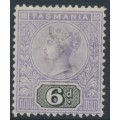 AUSTRALIA / TAS - 1892 6d violet/black Queen Victoria tablet, mint hinged – SG # 219