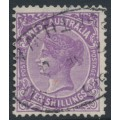 AUSTRALIA / WA - 1902 10/- deep mauve QV, V crown watermark, perf. 12½, used – SG # 127