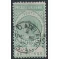 AUSTRALIA / SA - 1886 10/- green Long Tom, POSTAGE & REVENUE, perf. 10:10, used – SG # 197