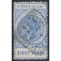 AUSTRALIA / SA - 1904 8d ultramarine Long Tom, thin POSTAGE, crown SA watermark, used – SG # 272