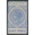 AUSTRALIA / SA - 1902 8d ultramarine Long Tom, thin POSTAGE, crown SA watermark, MH – SG # 271
