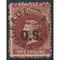AUSTRALIA / SA - 1878 1/- red-brown QV Diadem, perf. 11½:12½, overprinted OS, used – SG # O27
