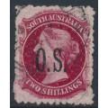 AUSTRALIA / SA - 1900 2/- rose-carmine QV Diadem, perf. 11½:11½, overprinted OS, used – SG # O34