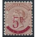 AUSTRALIA / SA - 1891 5d on 6d pale brown Queen Victoria, perf. 10:10, MH – SG # 230