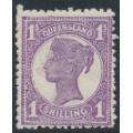 AUSTRALIA / QLD - 1907 1/- bright mauve QV side-face, crown A watermark, MH – SG # 299